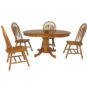 "42"" Round Oak Dining Set"