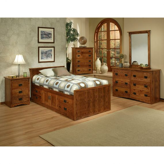 Mission Oak Youth Bedroom Set