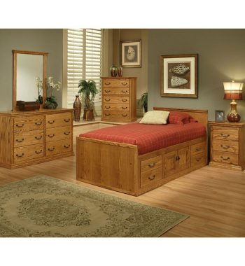 Traditional Oak Youth Bedroom Set