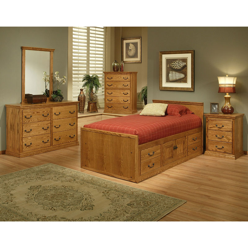 Traditional Oak Youth Bedroom Set By Oak Design