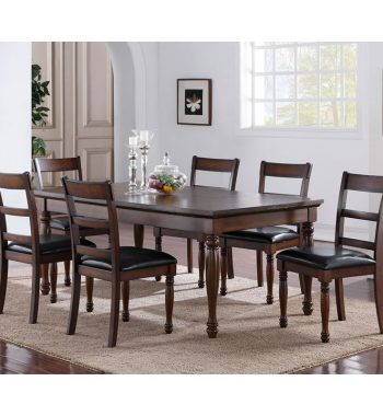 Breckenridge Dining Table Dura-Surface Set w/ 6 Chairs