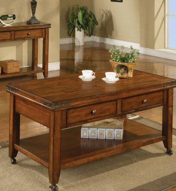 Mango 2 Drawer Coffee Table with Caster