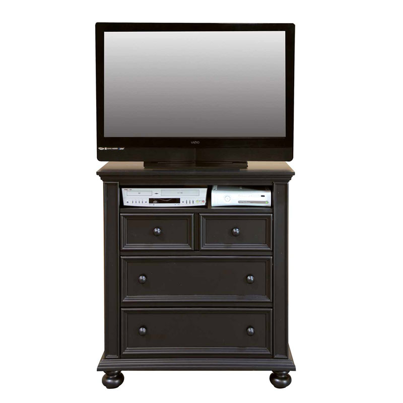 "Cape Cod 38"" Ebony 3 Drawer TV Chest"