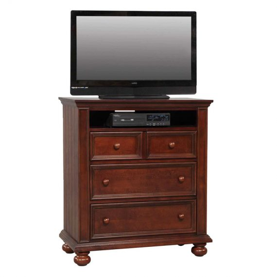 "Cape Cod 38"" Chocolate 3 Drawer TV Chest"