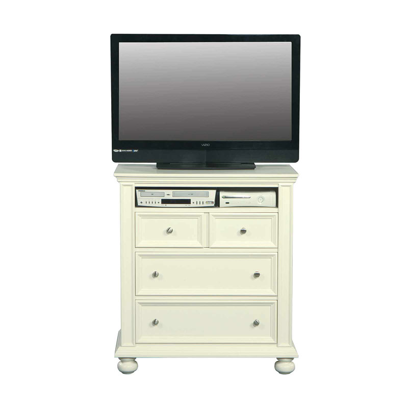 "Cape Cod 38"" White 3 Drawer TV Chest"