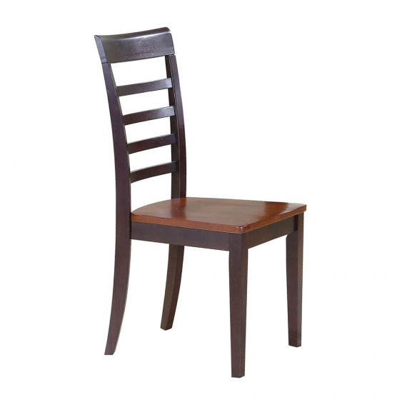 2 Contemporary Farmhouse Ladder Back Side Chairs