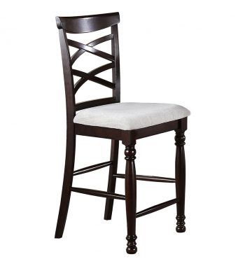 Hamilton Park X Back Bar Stool ( Set of 2)