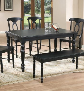 "Quails Run Ebony 60"" Leg Table"