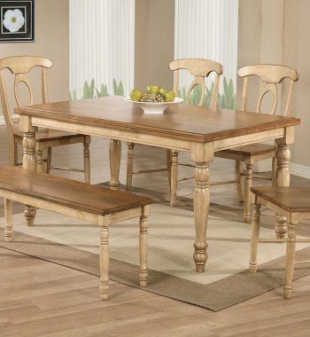 "Quails Run Almond/Wheat 60"" Leg Table"