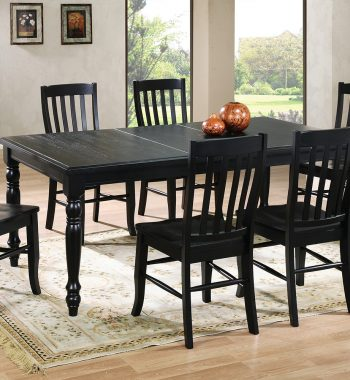 "Quails Run Ebony 78"" Leg Table with 18"" Butterfly Leaf"