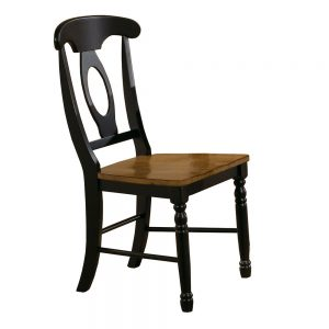 Quails Run Almond/Ebony Napoleon Side Chair(Set of 2)