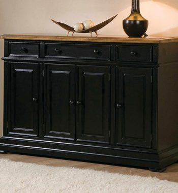 "Quails Run Almond/Ebony 58"" Sideboard"