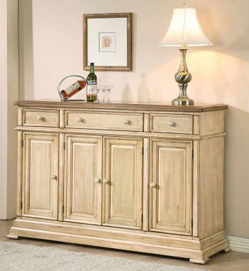 "Quails Run Almond/Wheat 58"" Sideboard"