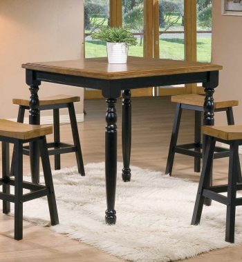"Quails Run Almond/Ebony 36"" Square Tall Table"