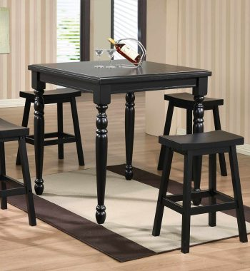 "Quails Run Ebony 36"" Square Tall Table"