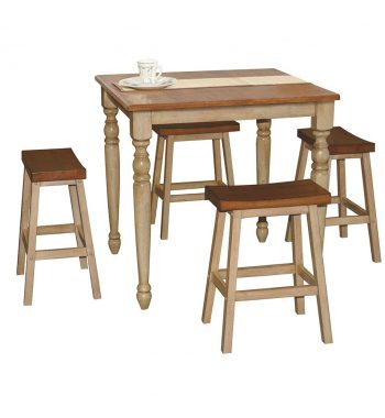 "Quails Run Almond/Wheat 36"" Square Tall Table"