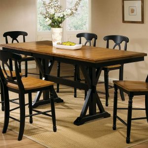 """Quails Run 78"""" Tall Table with 18"""" Butterfly Leaf"""
