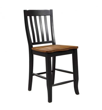 "Quails Run 24"" Rake Back Stool (Set of 2)"