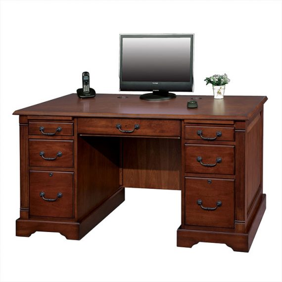 Country Cherry 57 inch Flat Top Desk