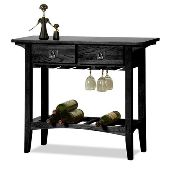Mission Wine Stand Black