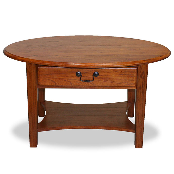 Oval Wood Coffee Table With Storage: Shaker Oval Coffee Table