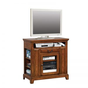 "Zahara Medium Oak 36"" Media Base"