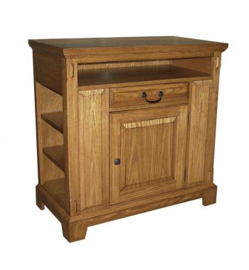 "Zahara Light Oak 36"" Media Base"